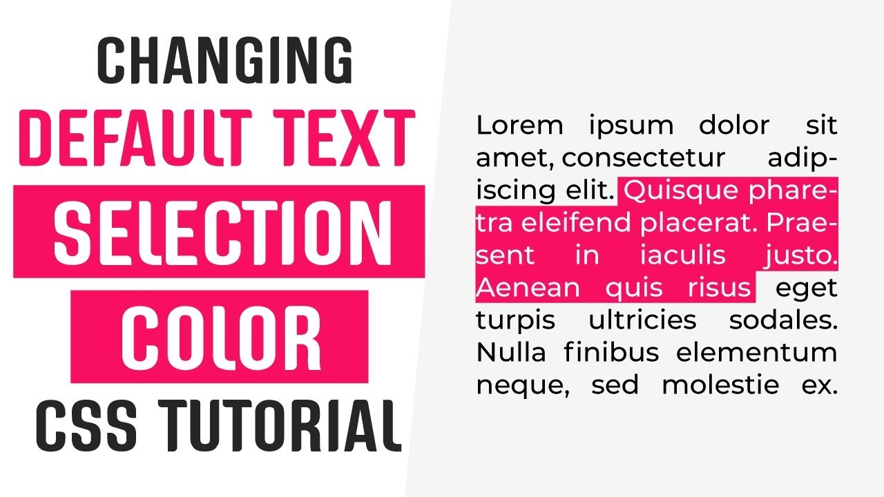 تغییر رنگ متن سلکت select شده کاربر
