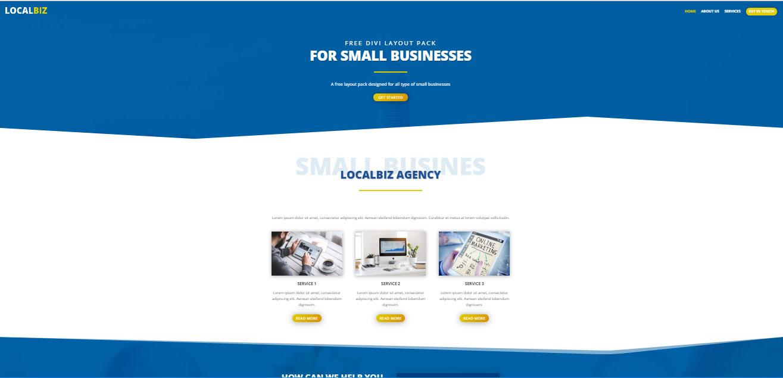 قالب رایگان Divi وردپرس شرکت های خدماتی و تجاری
